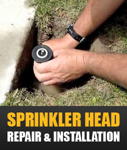 our techs can help with sprinkler head repair and installation